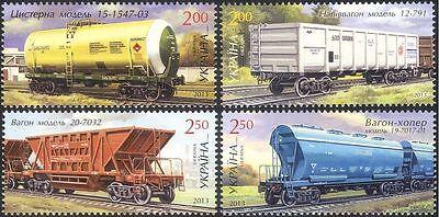 Ukraine 2013 Railway Wagons/Railways/Rail/Trains/Transport 4v set (n44250)