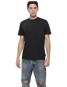 NUOVA-linea-uomo-DIESEL-Joey-T-Maglietta-Semplice-Casual-T-Shirt-Blu-Navy-Nero-Taglia-Small-S