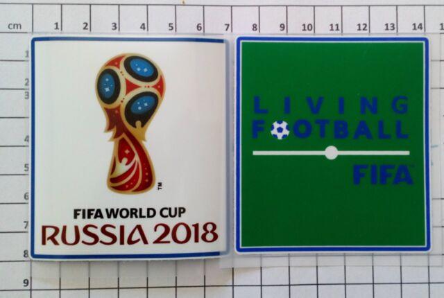 Patch Coupe du Monde Russie 18 + patch Living Football FIFA Brésil France Finale