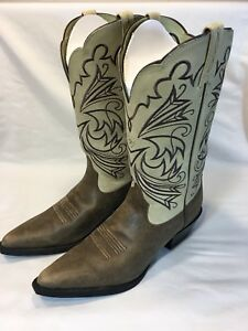e01ff39e669 Details about NEW Ariat Women's Brown/Tan Stitched Western Cowboy Cowgirl  Boots Size 10 B