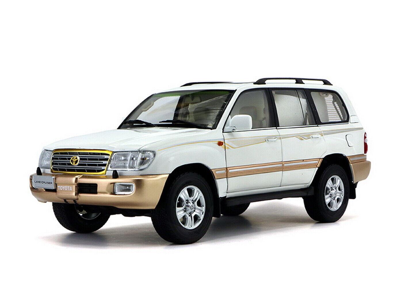 1/18 SCALA TOYOTA LAND CRUISER LC100 Bianco Diecast Modello Auto Giocattolo Collection