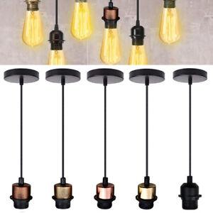 E27-Vintage-Light-PVC-Flex-Pendant-Lamp-Light-Colour-Holder-Ceiling-Fitting-Kit