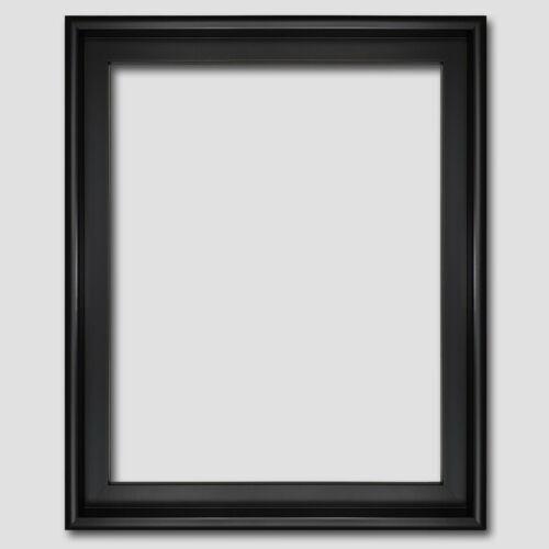 Schattenfugenrahmen für Leinwandbild 40x50 Schwarz Gold Silber Holz Bilderrahmen