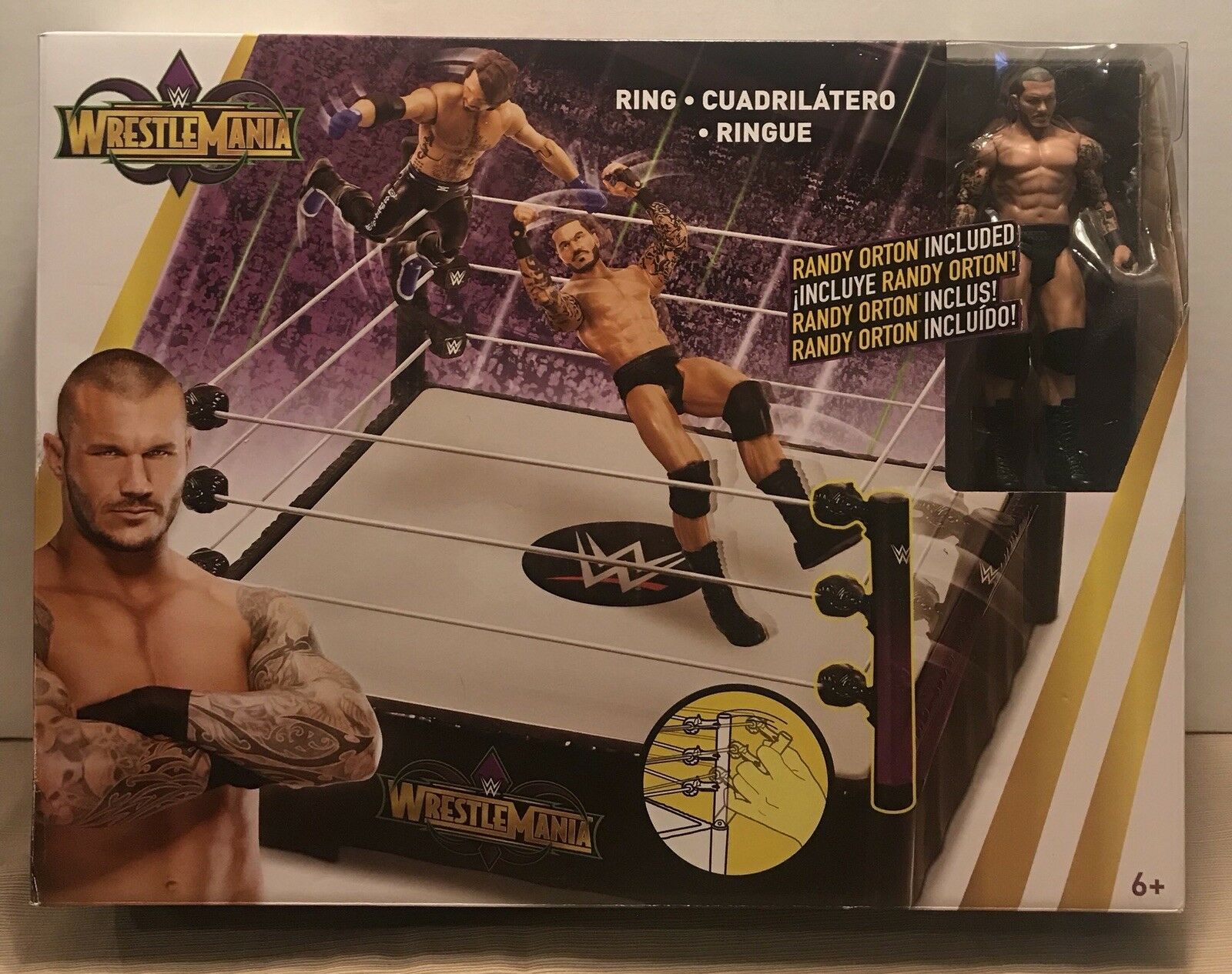 WWE Wrestlemania 34 New Orleans Ring with Randy Orton Exclusive Figure