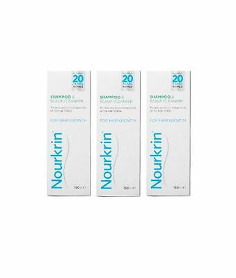Nourkrin Shampoo for Hair Loss Treatment (3 X 150ml)