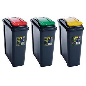 BIDONE-RACCOLTA-DIFFERENZIATA-25-Lt-WHAM-blu-giallo-o-verde-40x19x51-cm