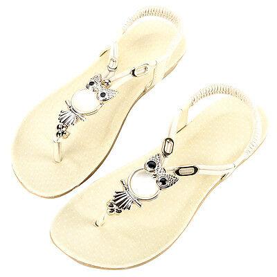 New Women Summer Bohemia Slippers Flip Flops Flat Sandals Beach Thong Shoes