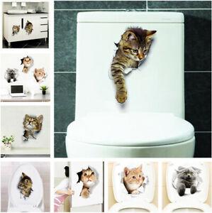 3D-Cute-Cat-Toilet-Sticker-Home-Living-Room-Bedroom-Fridge-Wall-Decals-Art-Decor