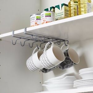 Image Is Loading Under Shelf Coffee Cup Mug Holder Hanger Storage
