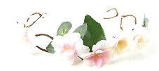 Blush Pink Peach Blossom Flower Hair Crown Headband Bridal Festival White 3AG