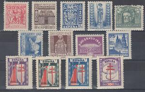 Espagne-Annee-1943-Complet-Timbres-Neufs-sans-Charniere-Caoutchouc