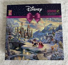 Disney Thomas Kinkade Beauty Beast Winter Enchantment 1000 PC Puzzle New Ceaco