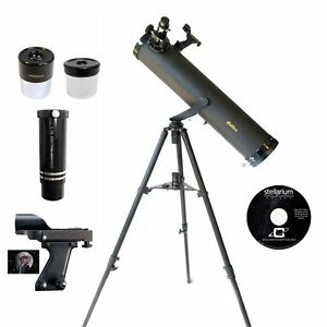 Galileo 800x95mm Astronomical Telescope Kit,Black Granite G-80095BG