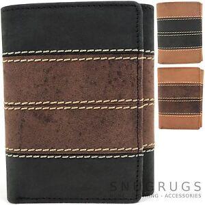 Mens-Gents-Genuine-Soft-Leather-Tri-Fold-Wallet-Credit-Card-Holder