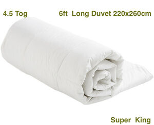 Image Is Loading 4 5 Tog 6ft Super King Size Duvet