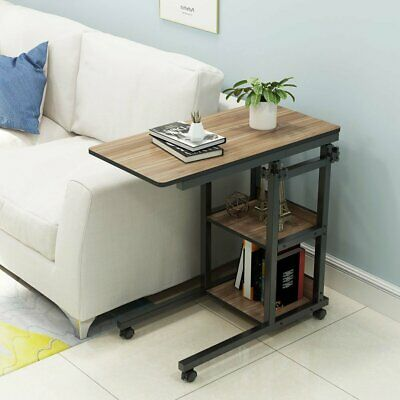 Laptop Rolling Cart C Shaped Tv Tray
