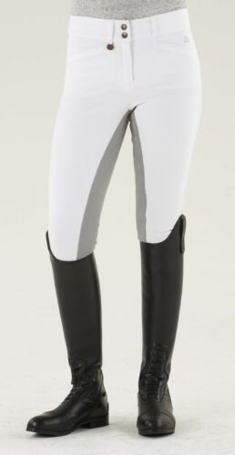 Ovation Celebrity Slim Secret EuroWeave DX Front Zip Full Seat Breeches White