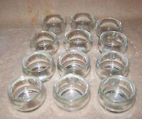 Ganz Clear Glass Tea Light 12 Candle Holders 1 Dozen
