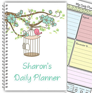 a5 personalised daily planner organiser schedule to do list