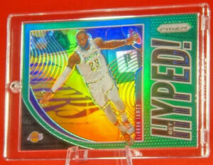 Get-Hyped-Green-Lebron-James-Lakers-Jersey-Super-Rare-Prism-Refractor-MVP