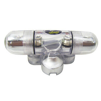 Stinger SPD5801 InLine Midi Fused Holder 4ga//8ga Input and 1 4ga//8ga Out 1