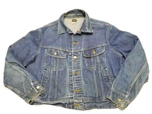 Vintage Lee Distressed Denim Blue Jean Jacket USA