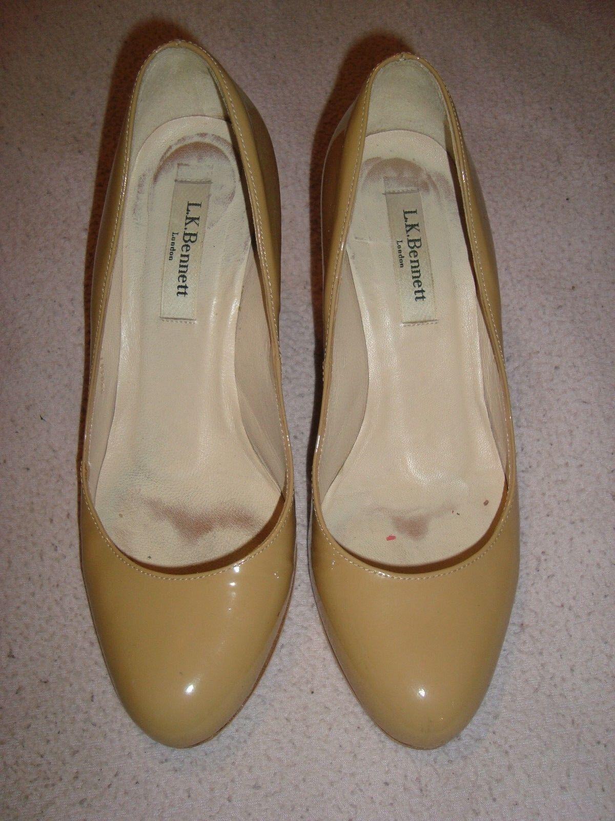 L.K.Bennett UK 3 EU 36 Beige Patent Leder Schuhes