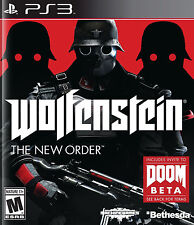 Sony Playstation 3 PS3 Wolfenstein: The New Order Video Game FPS Shooter