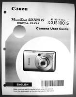 Canon Powershot Sd780 Is Ixus 100 Is Digital Camera User Guide Manual