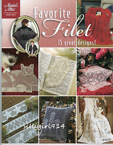 034-FAVORITE-FILET-034-Annie-039-s-Attic-Filet-Crochet-PATTERN-BOOK-15-Projects-SEE-PICS