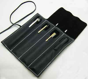 pen storage bag protect Rack holder hand Case cow Leather Customize black S041