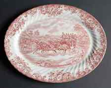 Johnson Brothers COACHING SCENES-PINK Oval Serving Platter 274953