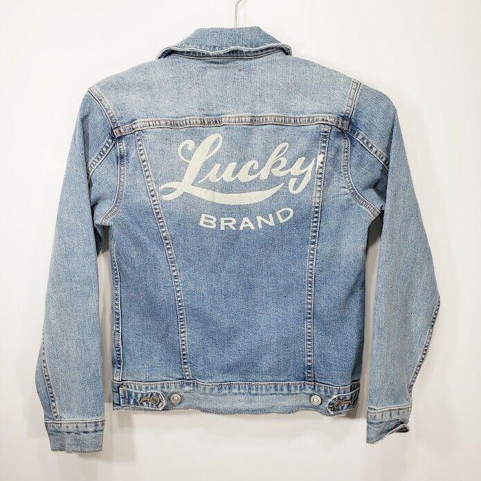 Lucky Brand Womens Jean Jacket XS X-Small Blue Denim Tomboy Trucker