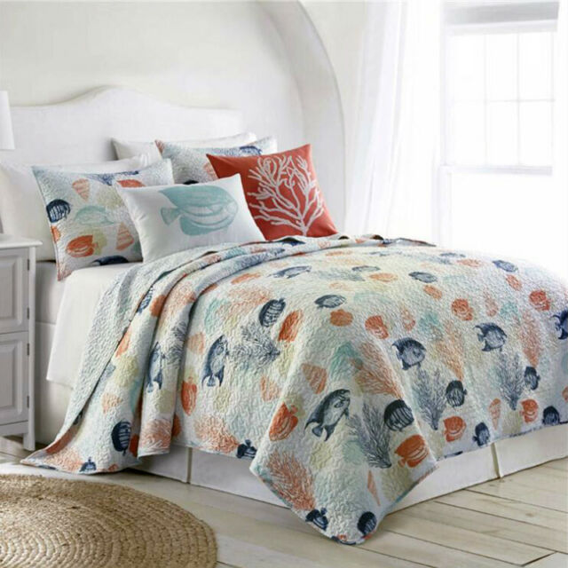 Cotton Animal Coverlet Beadspreads Set Queen King Size Bedding Pillow Cases New