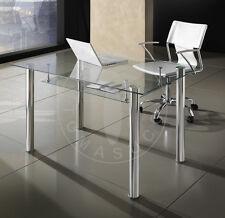TOMASUCCI tavolo Tense piano in vetro temperato struttura cromata ufficio 1670