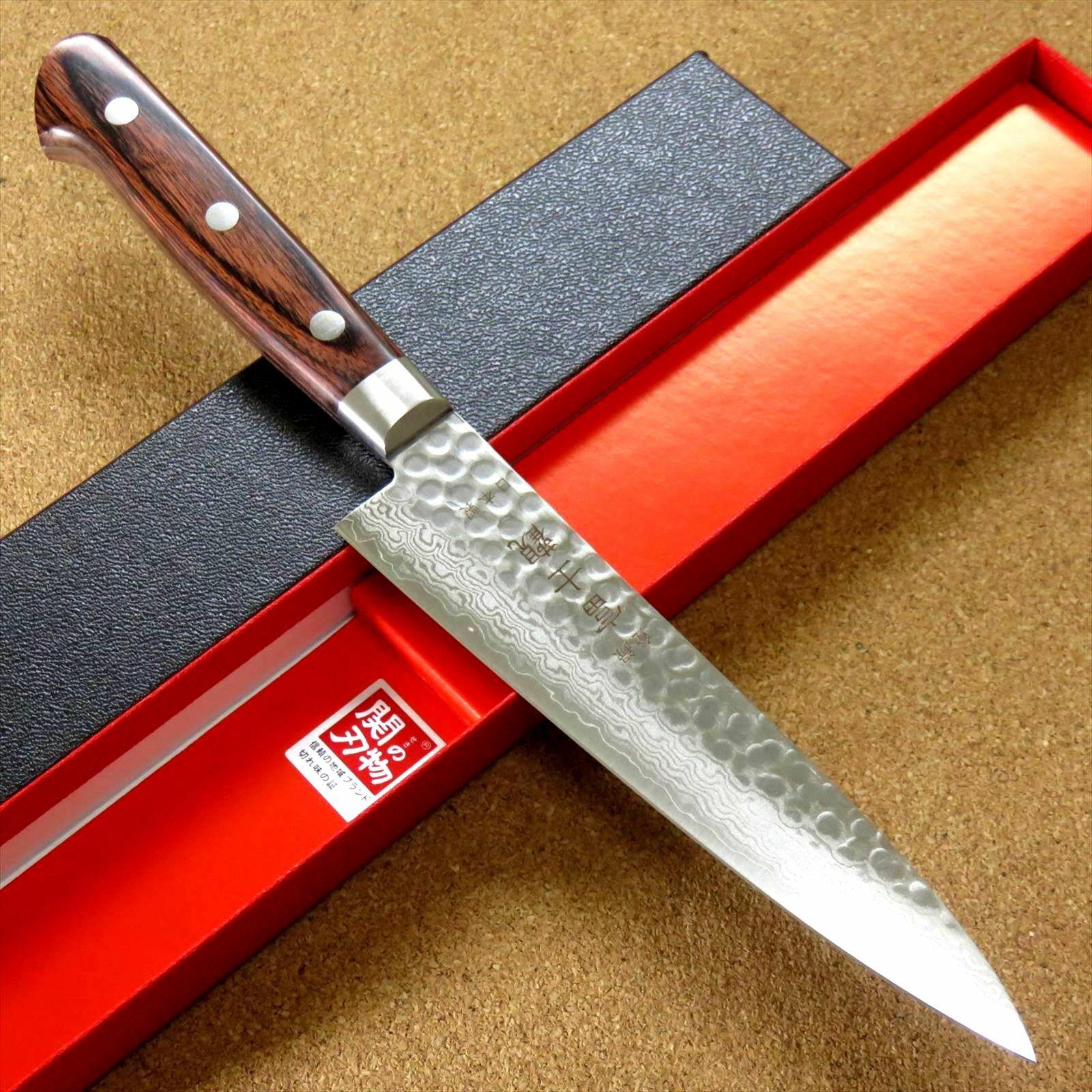 Japonais FUJIMI cuisine couteau 5  marteau forgé VG-10 Damas du Japon