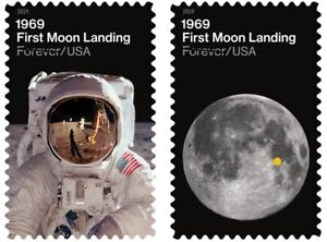 4-APOLLO-11-50th-Anniversary-of-the-FIRST-MOON-LANDING-US-Stamps-NASA-4-stamps