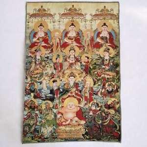 36-034-Tibet-Tibetan-Cloth-Silk-Buddhism-10000-Buddha-Picture-Tangka-Thangka-Mural