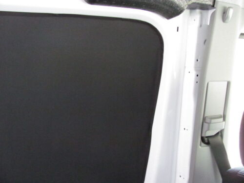 Mercedes Sprinter privacy curtains magnetic black cotton duck fabric
