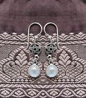 411 Rainbow Moonstone solid 925 Sterling Silver pentagram earrings rrp$39.95