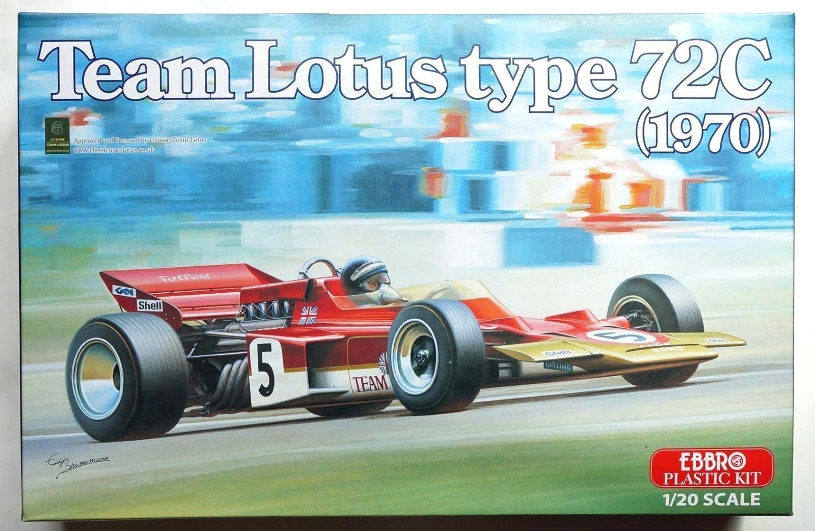 EBBRO 1 20 team Lotus type 72C 1970 EMSF-1 No.001 scale model kit