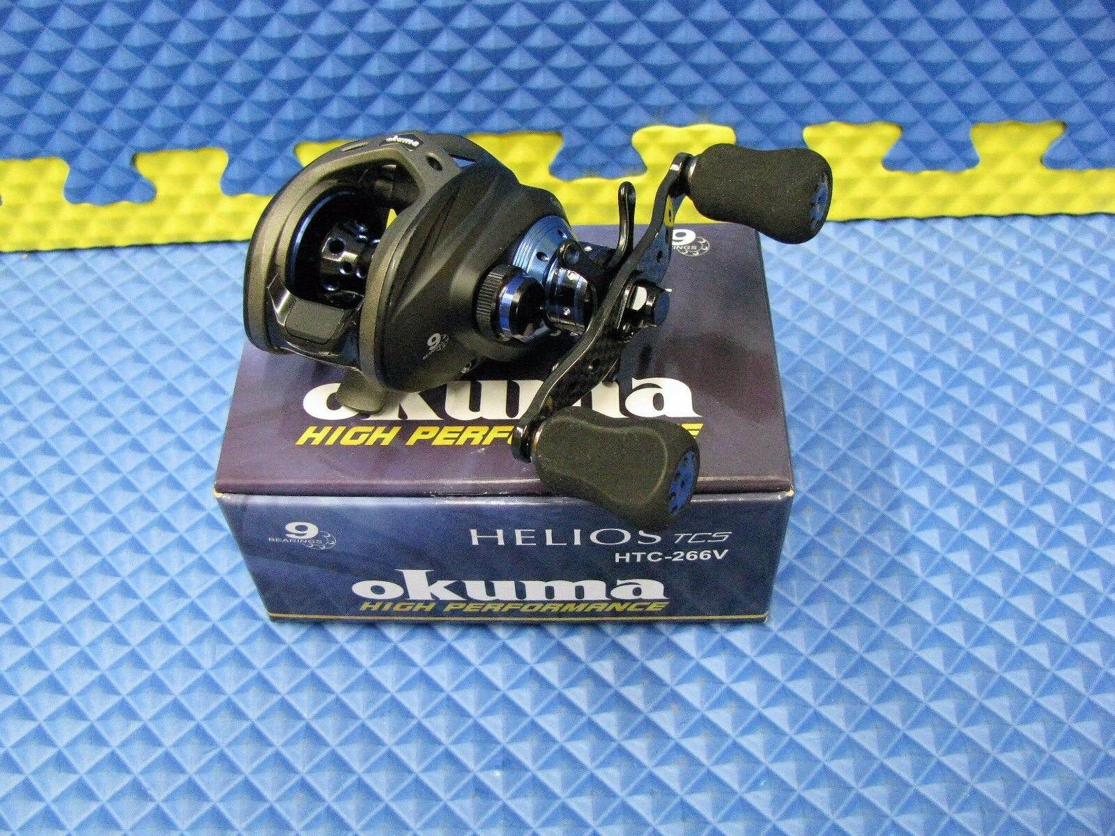 Okuma (HP) Helios TCS blå Right Handed Low Profile Baitlast Rulle HTC-266V