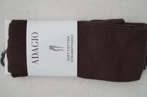 40//42 ADAGIO Strick-Strumpfhose Soft Cotton Gr.36//38 44//46  2 Farben NEU