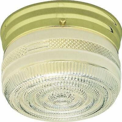Volume Lighting V7030-6 2-Light Flush Mount Ceiling Fixture White