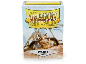Matte Ivory 100 ct Dragon Shield Sleeves Standard Size FREE SHIPPING! 10% OFF 2+