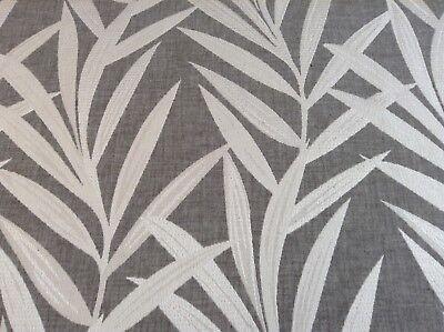 Bass Ikat Train Grey Fibre Naturelle Curtain//Craft Fabric