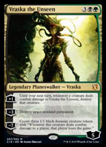 Vraska the Unseen NM Commander 2019  Gold Rare