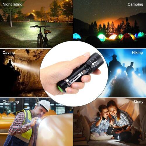 80000LM XM-L T6 Tactical LED Flashlight 5 Modes Portable Mini Torch Lamp