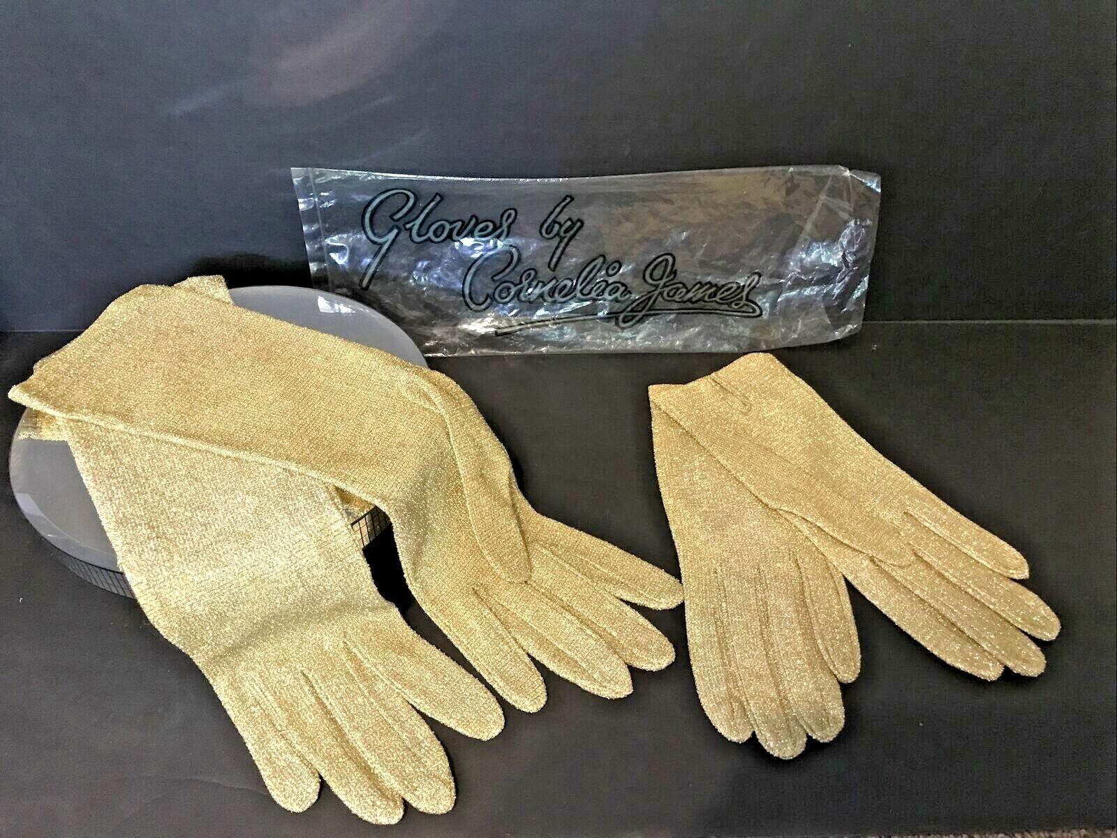 (2) Cornelia James Vintage Gold Luminex Wrist & Forearm Length England NOS SZ 7