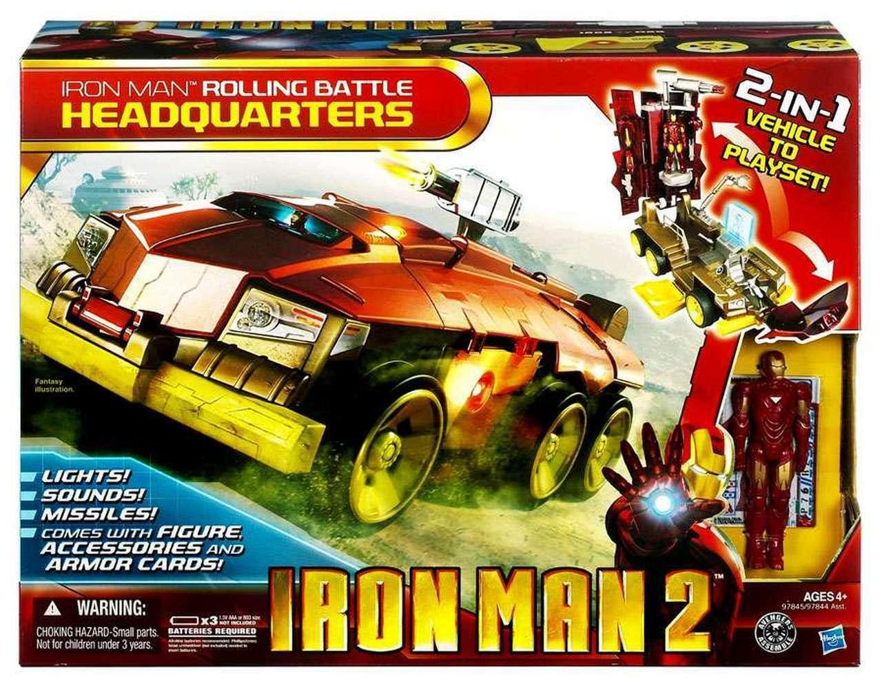 Iron Man 2 Rolling Battle Headqukonsters  2-in-1 fordon